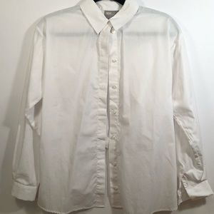 White Button Down with Open Back